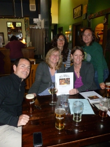 Clearing the Air - Tanya, our Waitress and 4 Environmental Lawyers at County Cork