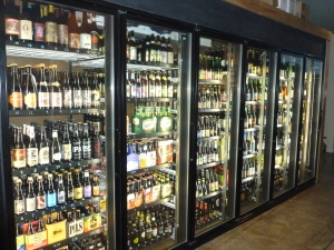 Besides 6 rotating draft beers, over 400 varieties of domestic and imported beer