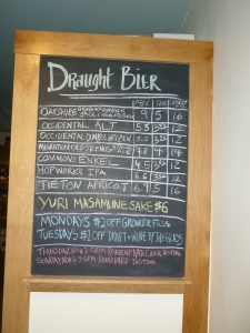 "Rotating tap selection on ""The Bier Board."""
