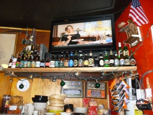 Three rotating taps -- microbrews and all these beers in cans available...