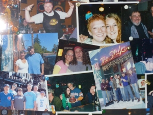 All of the people in the photo collage at The Ship have one thing in common -- they paid cash for their beer!
