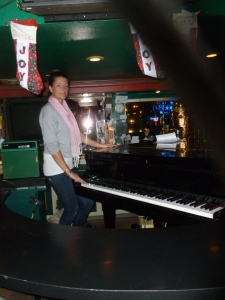 """Francesca with the """"Grand"""" piano - literally......"""