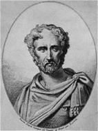 Pliny the Elder - great Roman intellect.  (He probably drank wine but at least had a beer named after him.