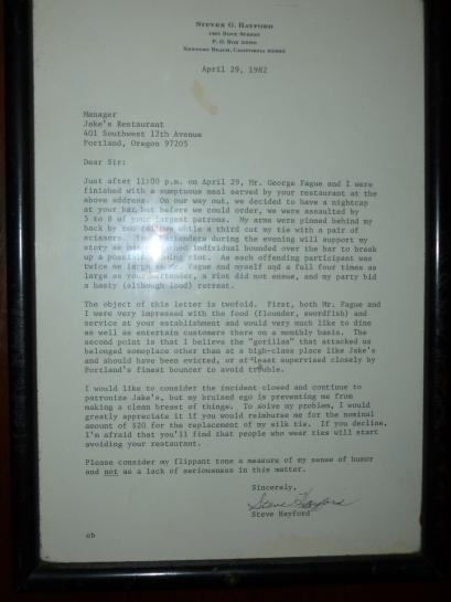 Haywood Letter