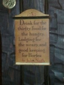 Sign at the Entrance to the Horse Brass Pub