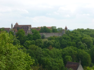 View of the wall of Rothenburg from the wall of Rothenburg