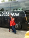 The best bus driver in Europe - Richard - with Lisa Friend