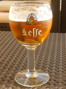 A Frosty Mug of Leffe Bier which is a product of ....