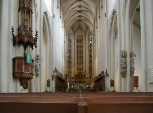 St. James Cathedral, built between 1311-1484. The church was consecrated in 1485 by the Bishop of Würzburg.
