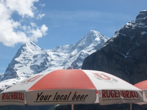 Mt. Schilthorn in the Swiss Alps - Beer with attitude - er...I mean altitude!