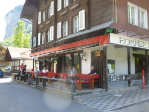A delightful pub in the Swiss Alps