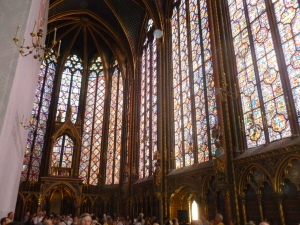 The magnificent stained glass of the Chapelle de Saint