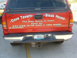 Pick-up Truck at Cove Tavern and Steakhouse