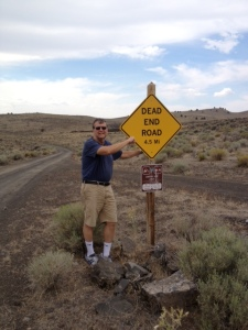 A road through the lava beds or what Dave maintained was a description of Thebeerchaser's career.