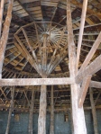 The remarkable interior structure of The Round Barn.