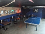 A Ping-Pong table in the cool (literally) basement