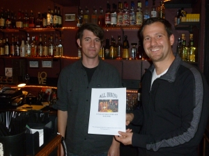 Alex and Ham with Thebeerchaser logo