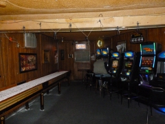 Free shuffleboard and a number of video games