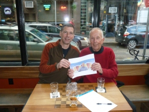 Charlie and Jack Faust with Thebeerchaser logo