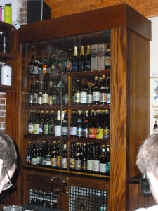 An impressive selection of bottled beers too!