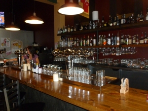 The bar at Bazi