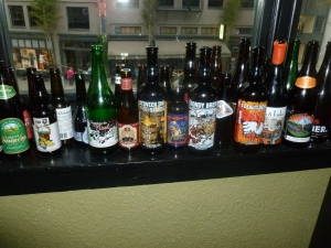 Bottled beers from all over -- to say the least