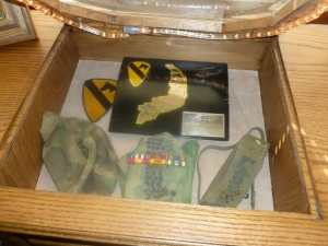 Mementos of his military service.