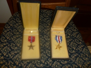 Steve's Bronze and Silver Stars for Gallentry
