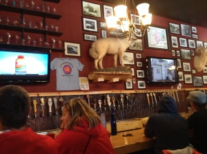 The bar in the ___ Brew Pub