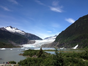 The Mendenhall Glacier outside of Juneau