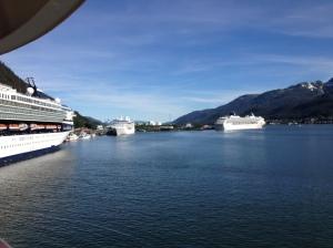 Leaving the pier in Juneau