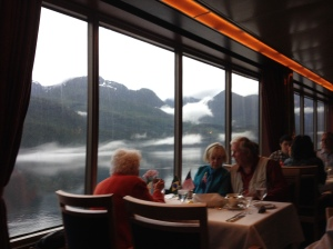 No reservation needed for a window seat at dinner.