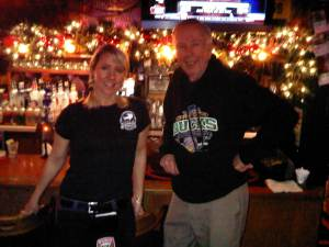 Jack and waitress, Eldridge at the Buffalo Gap Saloon.