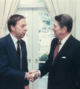 At the White House with President Reagan