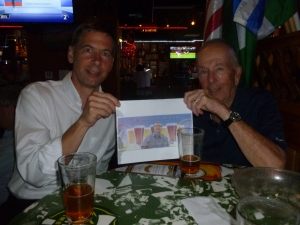 Son Charlie and Jack with Thebeerchaser logo at the Marathon Taverna