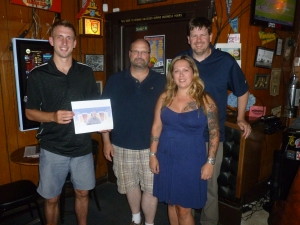 Ryan, Dan, Leslie and Scott with Thebeerchaser logo