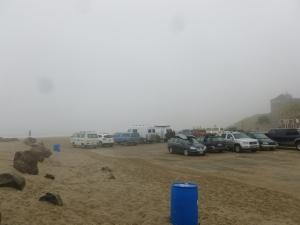 It was so foggy that -----