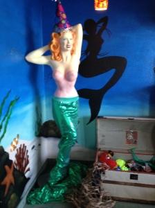 This mermaid does, in fact, look naughty...