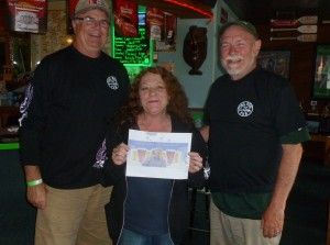 Steve, Vicki and Dave with Thebeerchaser logo