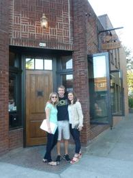 Outside Stamtisch - a great new NE bar - Laura Williams, Ryan Keen and Kenzie Larson