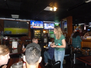 Plenty of TVs, but where are the grizzled regulars?