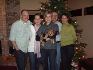 Jamie and Lisa Williams Magnusson, Laura, Don and Janet Williams with Sullivan