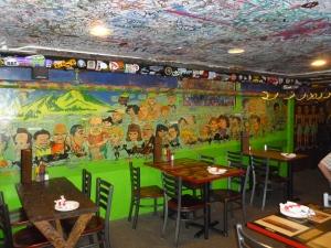 Some of the tons of graffiti-art created by San Francisco beatnik artist, Lloyd Kavich