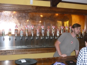 Eighteen different Avery beers at their Tap Room