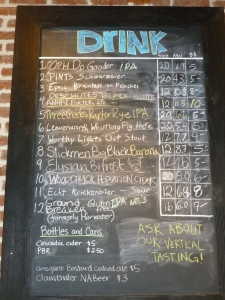 A limited, but nice selection of NW Draft Beers