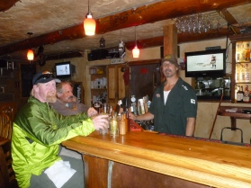 Lee, the bartender and cook (not mellowed by Hells Angel's gig)