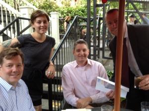 Dan Swift, server - Danielle, Dan Eller and Mike Jones