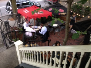 "The ""Brain Trust"" killing some brain cells on the patio"