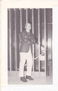 Ron Holloway as SAE President in 1969.