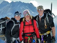 The Dude (right) on Mt. Everest climb